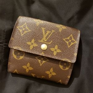 "Louis Vuitton monogram Elise wallet 4¼""Lx4""H"